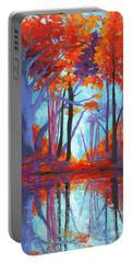 Autumnal Landscape, Impressionistic Art Portable Battery Charger
