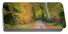 Autumnal Walkway Portable Battery Charger