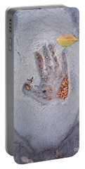 Autumns Child Or Hand In Concrete Portable Battery Charger