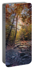 Autumn's Early Evening Portable Battery Charger by John Rivera
