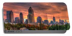 Autumns Glow Atlanta Sunset Art Portable Battery Charger