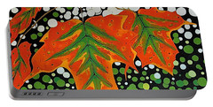 Portable Battery Charger featuring the painting Autumns Kiss by Kathleen Sartoris
