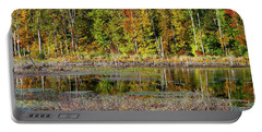 Portable Battery Charger featuring the photograph Autumns Quiet Moment by Karol Livote