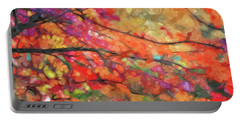 Autumns Splendorous Canvas Portable Battery Charger by Andrea Kollo
