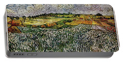 Portable Battery Charger featuring the painting Landscape Auvers28 by Pemaro