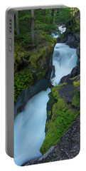 Portable Battery Charger featuring the photograph Avalanche Gorge 6 by Gary Lengyel