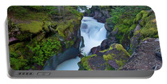 Portable Battery Charger featuring the photograph Avalanche Gorge 7 by Gary Lengyel