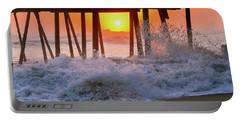 Avalon Fishing Pier Sunrise Portable Battery Charger