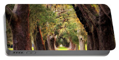 Portable Battery Charger featuring the photograph Avenue Of Oaks Sea Island Golf Club St Simons Island Georgia Art by Reid Callaway