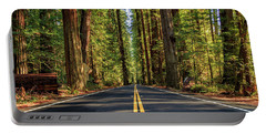 Avenue Of The Giants Portable Battery Charger by James Eddy