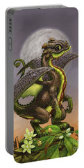 Avocado Dragon Portable Battery Charger by Stanley Morrison