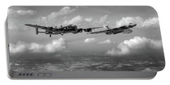 Portable Battery Charger featuring the photograph Avro Sisters Bw Version by Gary Eason