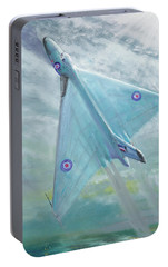 Avro Vulcan B1 Night Flight Portable Battery Charger by Vincent Alexander Booth