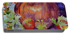 Portable Battery Charger featuring the painting Awaiting by Beverley Harper Tinsley