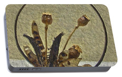 Portable Battery Charger featuring the painting Award Winning Florals by Joan Reese