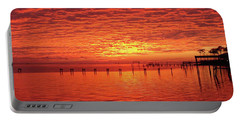 Awesome Santa Rosa Sunset Colors Panoramic Portable Battery Charger