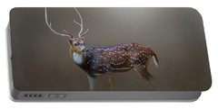 Axis Deer Portable Battery Charger by Marion Johnson