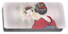 Ayano -- Portrait Of Japanese Geisha Girl Portable Battery Charger