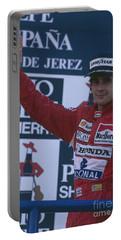 Ayrton Senna. 1989 Spanish Grand Prix Winner Portable Battery Charger