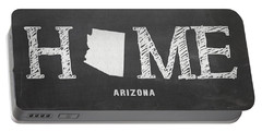 Portable Battery Charger featuring the mixed media Az Home by Nancy Ingersoll
