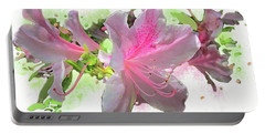 Portable Battery Charger featuring the digital art Azalea #2 by Gina Harrison