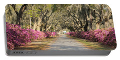 azalea lined road in Spring Portable Battery Charger