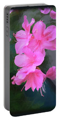 Portable Battery Charger featuring the digital art Azalea Spray by Ginny Schmidt