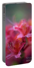 Azaleas Soft Flowers Details Portable Battery Charger by Mike Reid