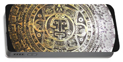 Aztec Calendar Portable Battery Charger
