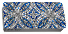 Azulejo - Blue Floral Decoration  Portable Battery Charger