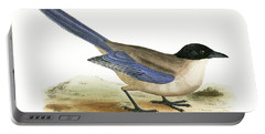 Azure Winged Magpie Portable Battery Charger