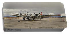 Portable Battery Charger featuring the photograph B-17 Flying Fortress by Allen Sheffield
