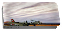 Portable Battery Charger featuring the photograph B-17 Aluminum Overcast - Bomber - Cantrell Field by Jason Politte