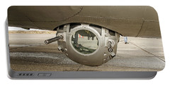 Portable Battery Charger featuring the photograph B-17 Ball Turret by Allen Sheffield