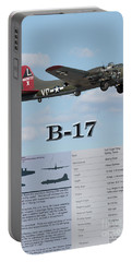 Portable Battery Charger featuring the photograph B 17 by Geraldine DeBoer