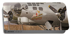 Portable Battery Charger featuring the photograph B-17 Nose Art by Allen Sheffield