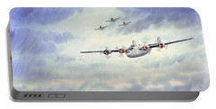 B-24 Liberator Aircraft Painting Portable Battery Charger by Bill Holkham