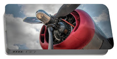Portable Battery Charger featuring the photograph B-24j Liberator Engine II by Kristia Adams