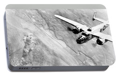 B-25 Bomber Over Germany Portable Battery Charger by War Is Hell Store
