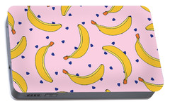 B-a-n-a-n-a-s Portable Battery Charger by Elizabeth Tuck
