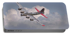 Portable Battery Charger featuring the photograph B17 - The Last Lap by Pat Speirs