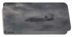 Portable Battery Charger featuring the digital art B25 - 12th Usaaf by Pat Speirs