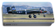 B25 Mitchell Bomber Take Off At Livermore Portable Battery Charger