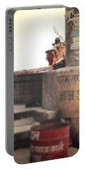 Baba At The Ghats Portable Battery Charger