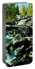 Portable Battery Charger featuring the photograph Babbling Brook by Greg Norrell