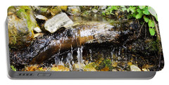 Babbling Brook Portable Battery Charger by Janie Johnson
