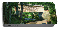 Portable Battery Charger featuring the photograph Babb's Covered Bridge by Guy Whiteley