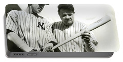 Babe Ruth And Lou Gehrig Portable Battery Charger