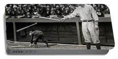 Babe Ruth At Bat Portable Battery Charger