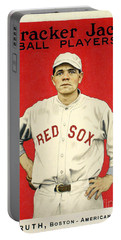 Babe Ruth Cracker Jack Card Portable Battery Charger
